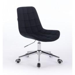 Kozmetická stolička Pretty Velur Black Kozmetické stoličky