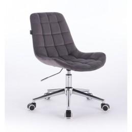 Kozmetická stolička Pretty Velur Grafit Kozmetické stoličky