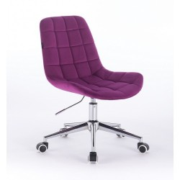 Kozmetická stolička Pretty Velur Fuksia Kozmetické stoličky