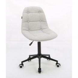 Kozmetická stolička Laura Velur Light Silver