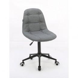 Kozmetická stolička Laura Velur Dark Silver