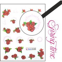 BLE 2048 Vodolepky Spring time Vodové nálepky Kvety