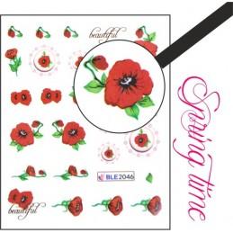 BLE 2046 Vodolepky Spring time Vodové nálepky Kvety