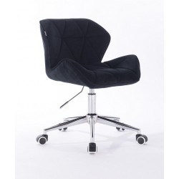 Kozmetická stolička Detail Velur Black
