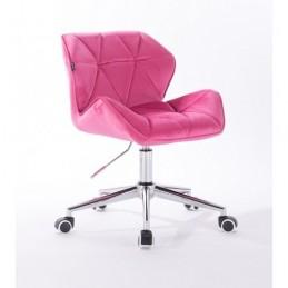 Kozmetická stolička Detail Velur Malina