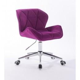 Kozmetická stolička Detail Velur Fuksia