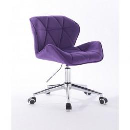 Kozmetická stolička Detail Velur Violet