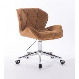 Kozmetická stolička Detail Velur Med