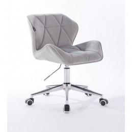 Kozmetická stolička Detail Velur Silver