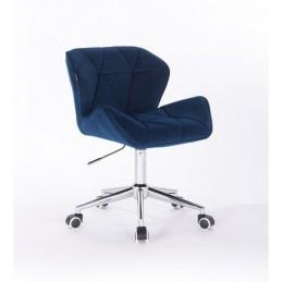 Kozmetická stolička Detail Velur Tmavé More