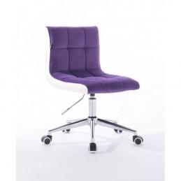 Kozmetická stolička Mishel Velur Violet