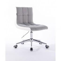 Kozmetická stolička Mishel Velur Silver