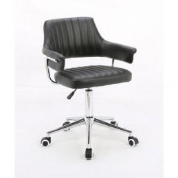 Kozmetická stolička Elena Black Kreslá, stoličky