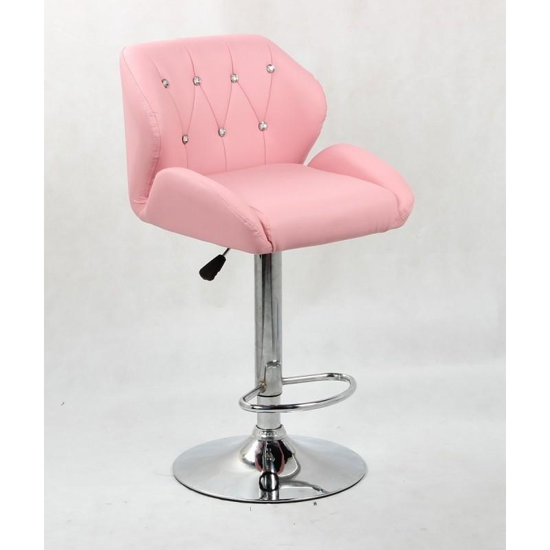 Barová stolička Vanesa Pink Barové stoličky