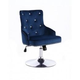 Kreslo Madeira Velur Dark Blue Stoličky do čakárne