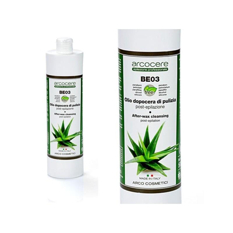 Čistiaci olej s Aloe Vera po depilácii Arcocere 500 ml ARCORCERE Depilačná kozmetika