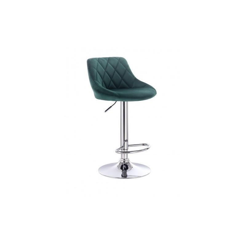 Barová stoličky Apolo Velur Green Barové stoličky