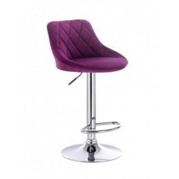 Barová stoličky Apolo Velur Fuksia