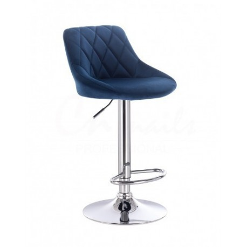 Barová stoličky Apolo Velur Čierne more Barové stoličky