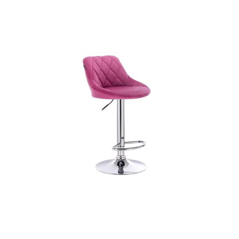 Barová stoličky Apolo Velur Malina Barové stoličky