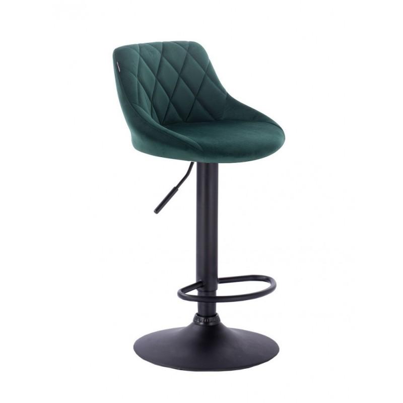 Barová stoličky Apolo Mat Velur Green Barové stoličky