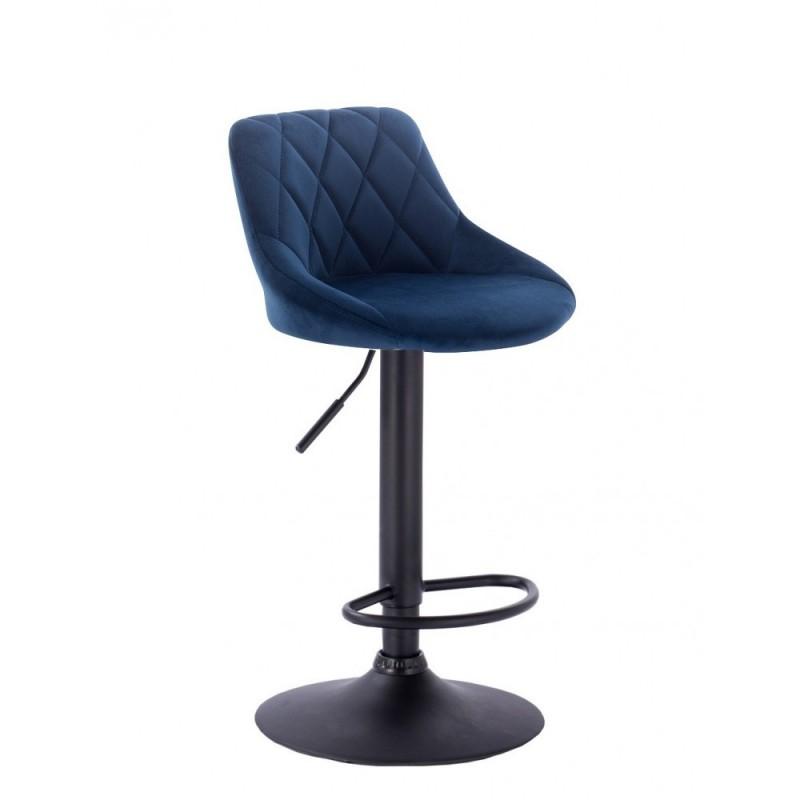 Barová stoličky Apolo Mat Velur Čierne more Barové stoličky