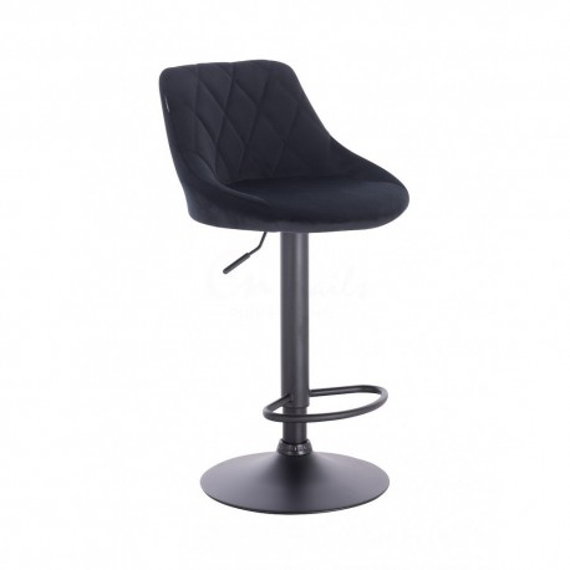 Barová stoličky Apolo Mat Velur Black Barové stoličky