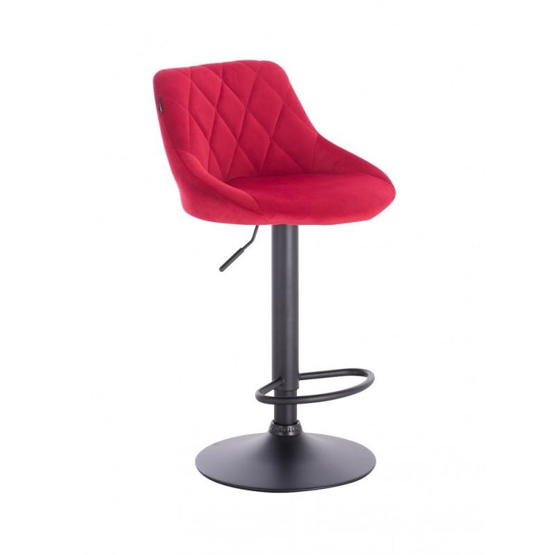 Barová stoličky Apolo Mat Velur Red Barové stoličky