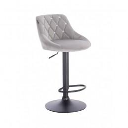 Barová stoličky Apolo Crystal Velur Silver