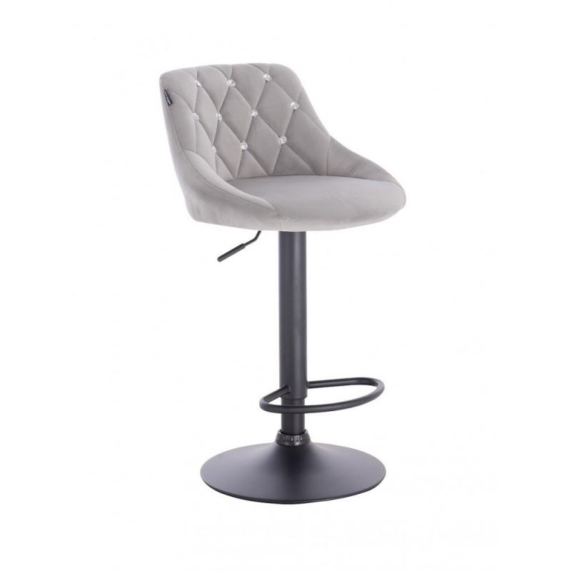 Barová stoličky Apolo Crystal Velur Silver Barové stoličky