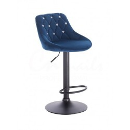 Barová stoličky Apolo Crystal Velur Čierne more