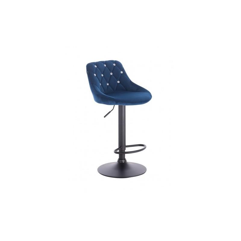 Barová stoličky Apolo Crystal Velur Čierne more Barové stoličky