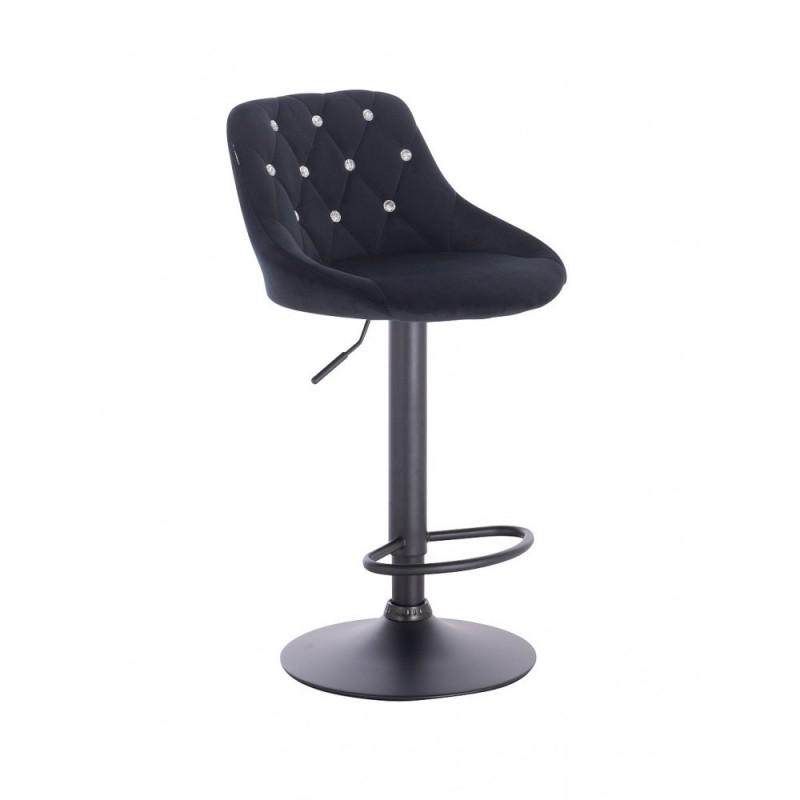 Barová stoličky Apolo Crystal Velur Black Barové stoličky