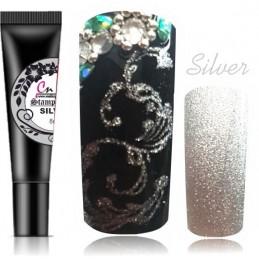 09 Silver Stamping gel na pečiatkovanie Stamping gely na pečiatkovanie